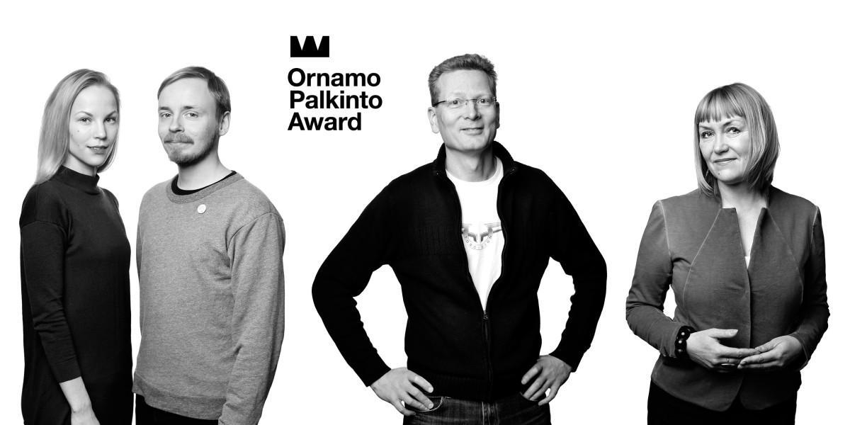 Ornamo-palkintoehdokkaat 2016: Saana Sipilä ja Olli Sallinen, Pasi Pennanen ja Pirjo Kääriäinen. Valokuvat Anni Koponen.