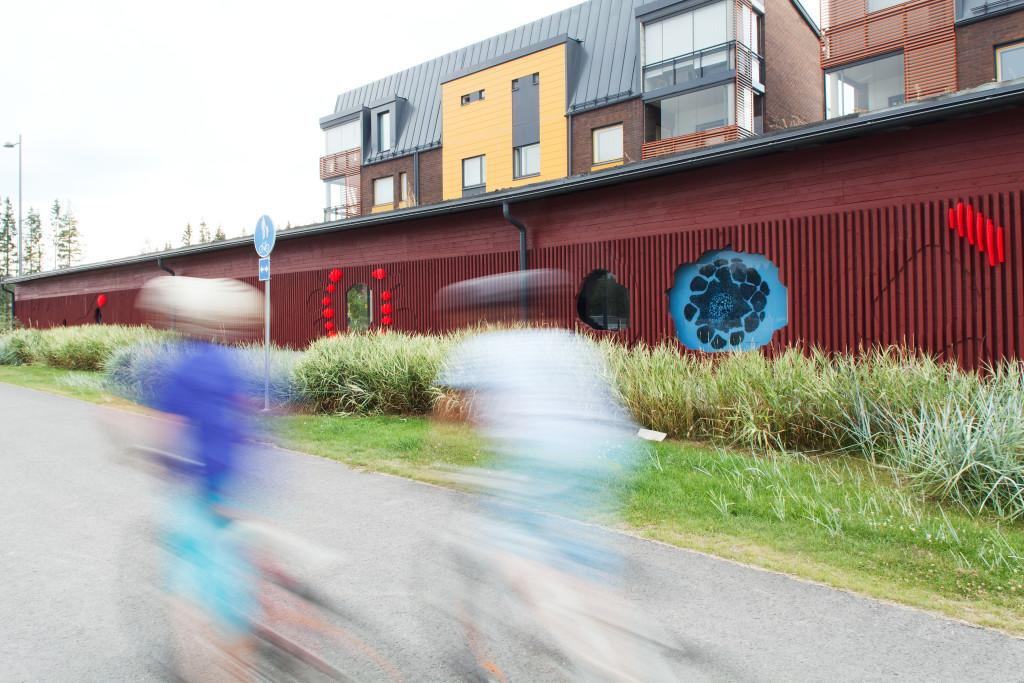 Art is integrated in Vuores, a new area in Tampere. Photo: Aino Huovio