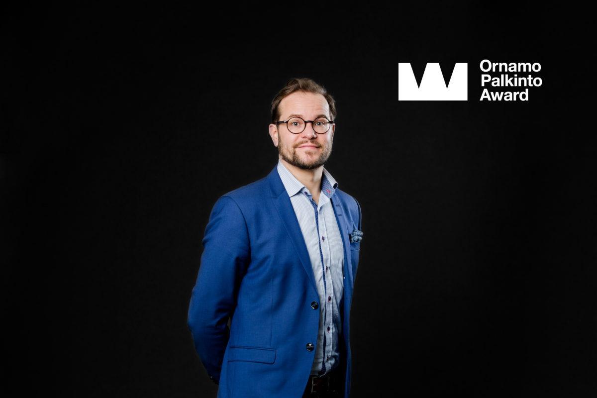 Ornamo-palkintoehdokas Antti Olin. Kuva: Anni Koponen.