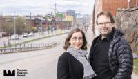 Sisustusarkkitehdit Hanna Gullstén ja Jari Inkinen