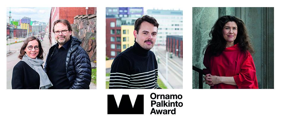 Ornamo-palkintoehdokkaat 2020 Hanna Gullstén ja Jari Inkinen, Joonas Kyöstilä ja Laura Sarvilinna