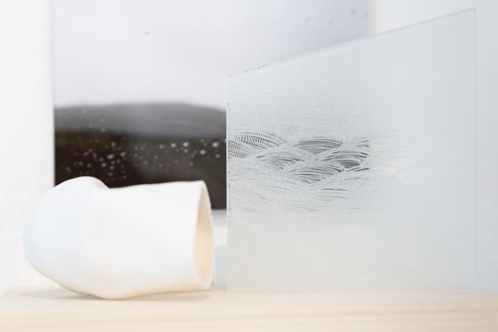 Leena Hyttisen lasi- ja keramiikkateos Näkoala