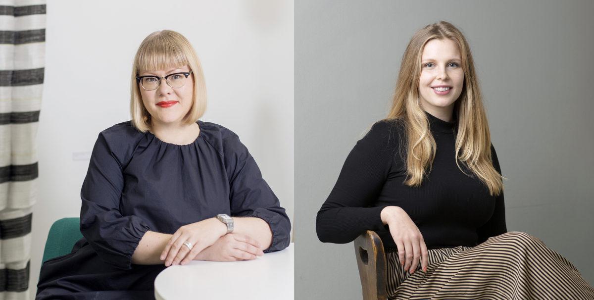Ornamon viestintäpäällikkö Miisa Pulkkinen ja viestintäasiantuntija Maija Toivonen