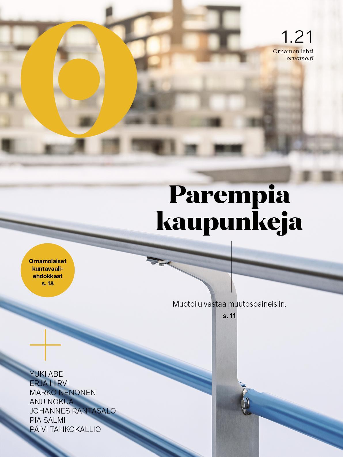Ornamon lehden kansi numero 1 / 2021
