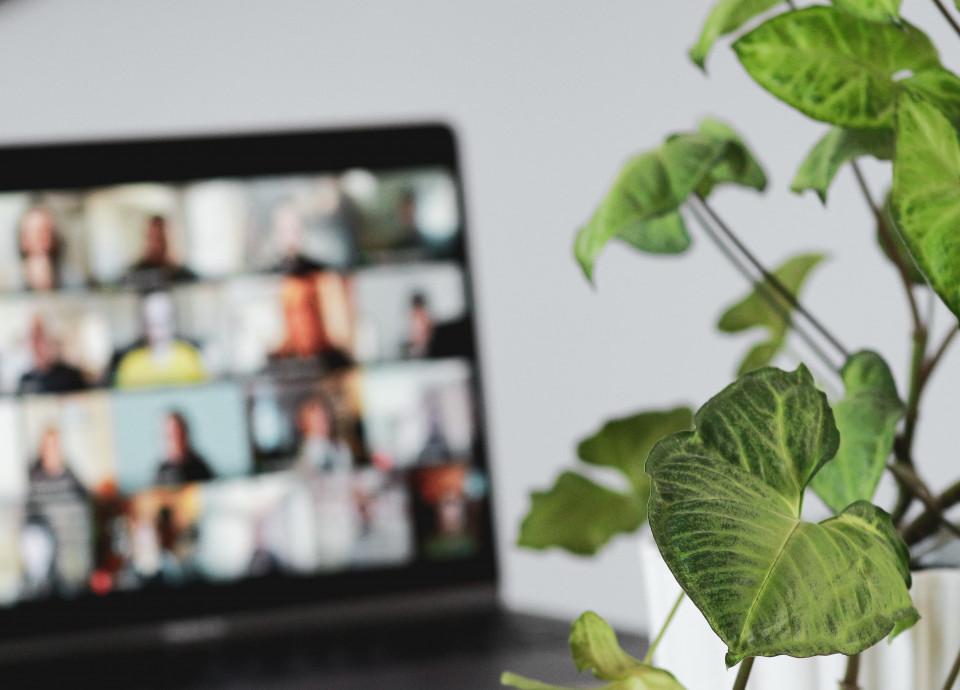 Videokeskustelu tietokoneen näytöllä